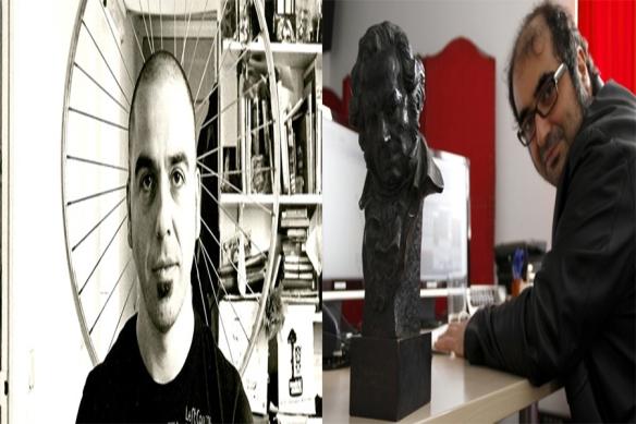 El director Chiqui Carabante y el montador/diseñador de sonido Pelayo Gutiérrez