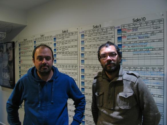 Nacho Royo (izq) y Elías León Siminiani (drch) en los estudios -LaBocinaSonido-.