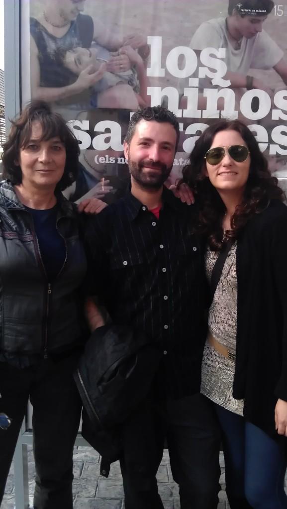 De iqzd a drch: Patricia Ferreira (Directora), José Tomé (Diseñador de sonido) y Marta Velasco (Productora