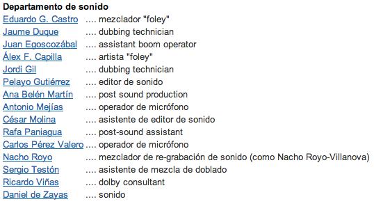 Departamento de sonido de Grupo 7.