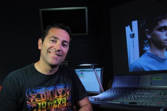 El sonidista y diseñador de sonido Pedro Aviñó en Sismic Audio.