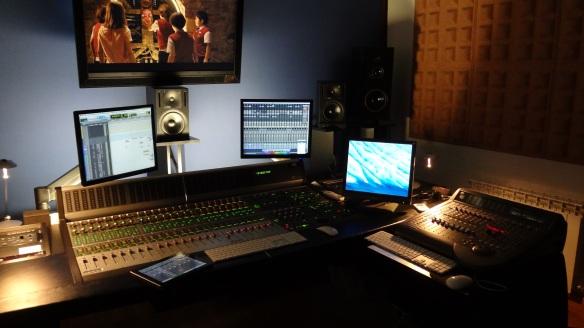 Sala de montaje y diseño de sonido.