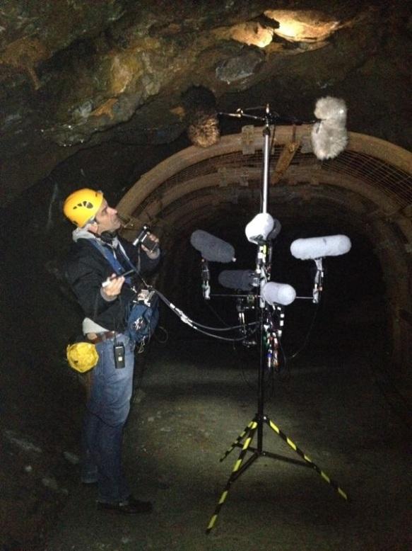 Sesión de SFX en las cuevas de Arditurri.