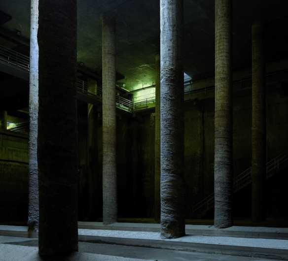 Depósito de aguas del Parque Miró de Barcelona.