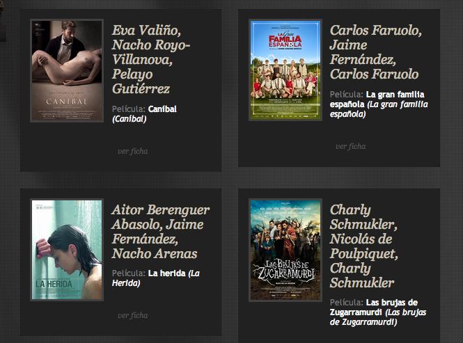 Fuente: Academia de Cine español