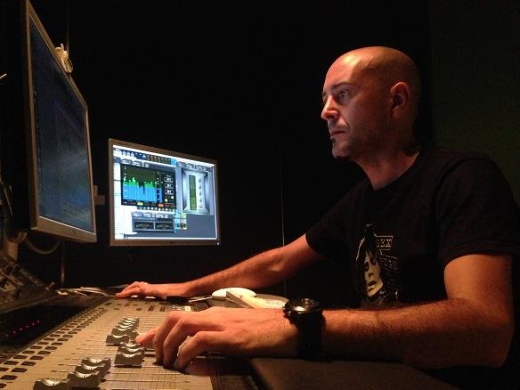 El Diseñador de sonido Álex Vilches.