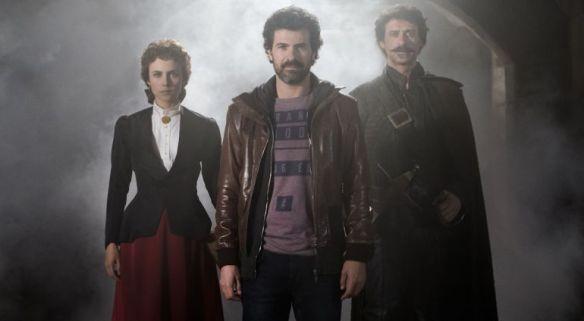 Los tres personajes protagonistas de -El ministerio del tiempo-