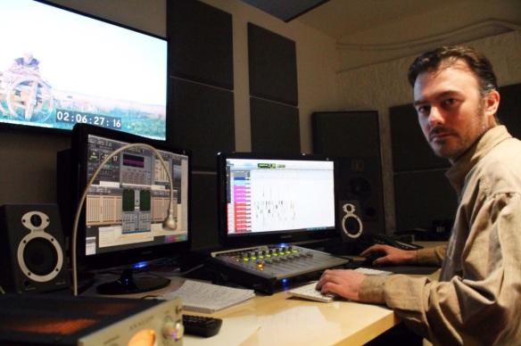 El Diseñador de sonido Alejandro López.