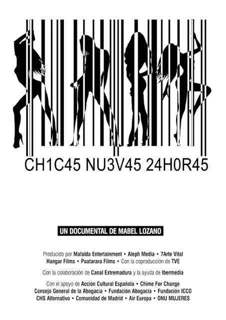 Cartel del Documental de mabel Lozano, -Chicas nuevas 24horas-.