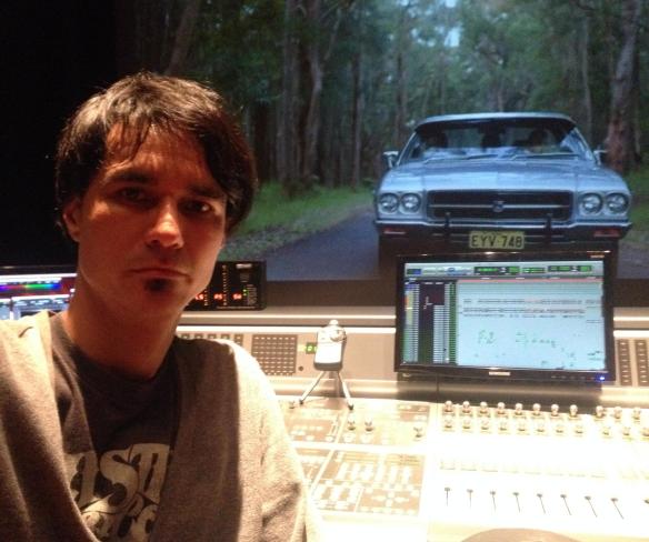 El Diseñador de sonido Gerardo Kalmar.