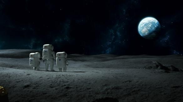 """El escenario lunar de """"Atrapa la bandera""""."""