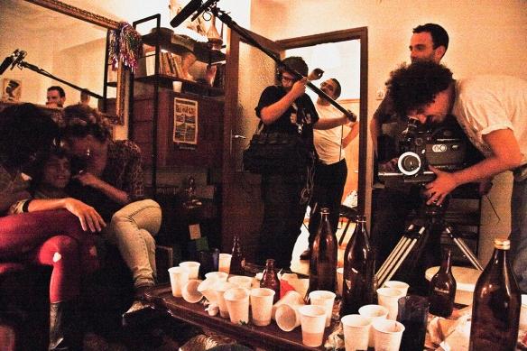 """Jorge Alarcón durante ek rodaje de """"El Futuro""""."""