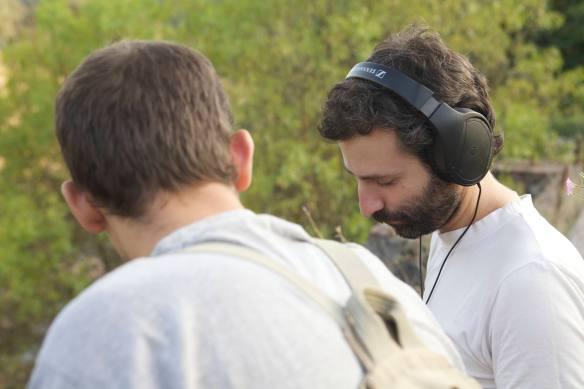 José Tome y Carlos Crespo, 20 sep 2010 durante la grabación del cortometraje Triadic