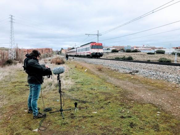 Alberto Carlassare en una sesión de field recording.